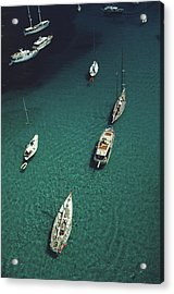 Blue Seas Acrylic Print by Slim Aarons