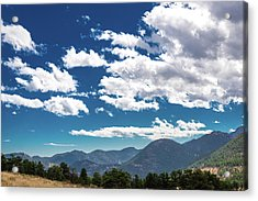 Acrylic Print featuring the photograph Blue Skies And Mountains II by James L Bartlett