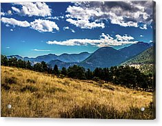 Acrylic Print featuring the photograph Blue Skies And Mountains by James L Bartlett