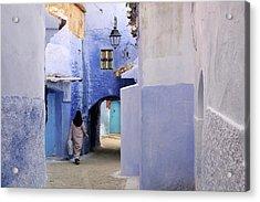 Blue Street Acrylic Print