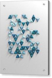 Blue Triangles Acrylic Print