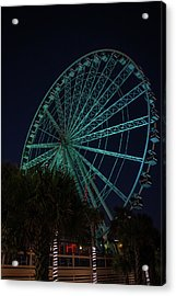 Blue Wheel Acrylic Print