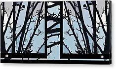 Blues - Barely Spring Abstract - Acrylic Print