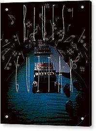 Blues Guitar Music Notes Acrylic Print