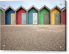 Blyth Beach Huts Acrylic Print by Billy Currie Photography