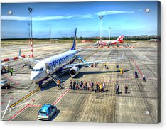 Boarding A Ryanair Jet Acrylic Print