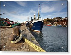 Boat Dock, Whitby, West Yorkshire Acrylic Print