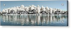 Boathouse Row Infrared Acrylic Print by Stacey Granger