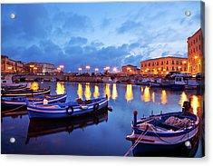 Boats In Sicily, Italy Acrylic Print by Nikada