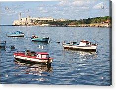 Boats In The Harbor Havana Cuba 112605 Acrylic Print
