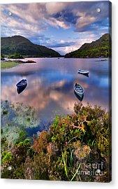 Boats On Water In Killarney National Acrylic Print