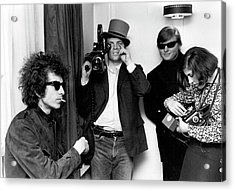 Bob Dylan & D.a. Pennebaker From Dont Acrylic Print