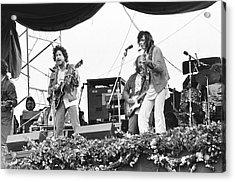 Bob Dylan & Neil Young Performing At Acrylic Print