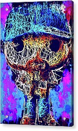 Acrylic Print featuring the mixed media Bobby Supernatural Pop by Al Matra