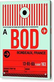 Bod Bordeaux Luggage Tag I Acrylic Print