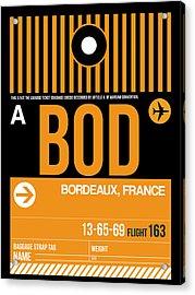 Bod Bordeaux Luggage Tag II Acrylic Print