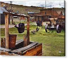 Bodie Ghost Town Acrylic Print by Leland D Howard