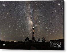 Acrylic Print featuring the photograph Bodie Island Lighthouse Starring The Milky Way by Terry Rowe