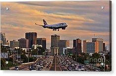 Boeing 747 Landing In San Diego Acrylic Print
