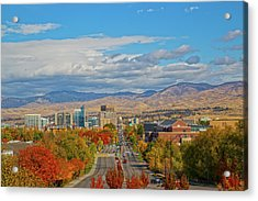 Acrylic Print featuring the photograph Boise In Fall by Dart and Suze Humeston