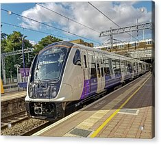 Bombardier Class 345 Aventra Commuter Train At Ealing Broadway Station London England Acrylic Print