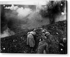 Bombardment Acrylic Print by General Photographic Agency