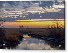 Acrylic Print featuring the photograph Bombay Hook Dawn's Early Light by Kristia Adams