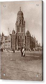 Bombay Municipal Hall Acrylic Print by Hulton Archive