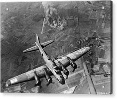 Bombing Run Acrylic Print by Hulton Archive