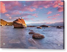 Bonsai Rock, Lake Tahoe Acrylic Print