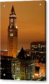Boston Clock Tower - Custom House Acrylic Print by Jsmith