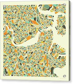 Boston Map 1 Acrylic Print