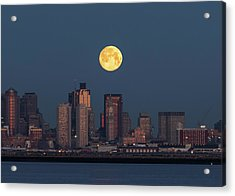 Boston Moonset Acrylic Print
