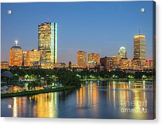 Boston Night Skyline II Acrylic Print