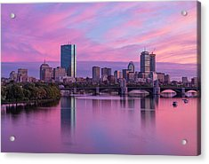 Boston Sunset Acrylic Print