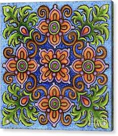 Botanical Mandala 1 Acrylic Print