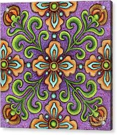 Botanical Mandala 10 Acrylic Print