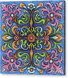 Botanical Mandala 2 Acrylic Print