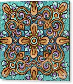 Botanical Mandala 7 Acrylic Print