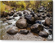 Boulders In Creek Acrylic Print
