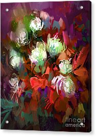Bouquet Of Colorful Flowers,digital Acrylic Print