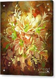 Bouquet Of Flowers,digital Acrylic Print
