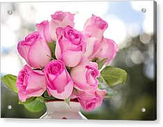 Bouquet Of Pink Roses Acrylic Print