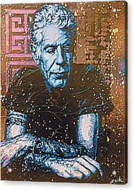 Bourdain - The Parts Unknown Acrylic Print by Bobby Zeik