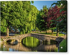 Bourton-on-the-water, Gloucestershire Acrylic Print by David Ross