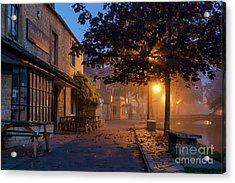 Bourton On The Water October Morning Acrylic Print by Tim Gainey