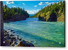 Bow River In Banff Acrylic Print