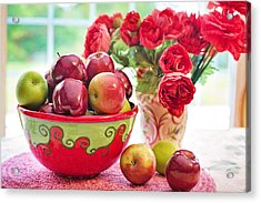 Bowl Of Red Apples Acrylic Print