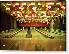 Bowling Acrylic Print by Olive