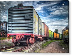 Box Cars Acrylic Print by G Wigler